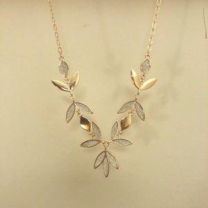 Rose Gold floral necklace